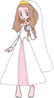 Serena in Wedding Dress by ChipmunkRaccoon2