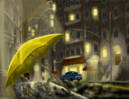 Rainy City Ducks by Tico-Illustrations