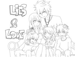 Lies and Love Lineart by WolfieANNE