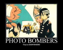 Motivational Poster: Soul Eater Photo Bombers by cheezyhobo1