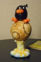 Raphael the Raven Clay Sculpture by Spram