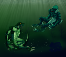 .In The Deep. -Commission by DragonessDeanna