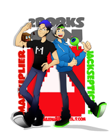 2Dorks on Youtube ft. Markiplier and Jacksepticeye by xOtakuStarx