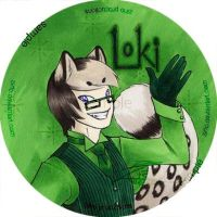 Loki 3' button by zirio