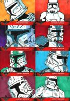 501st Celebration VI Sketch Cards 01 by JoeHoganArt