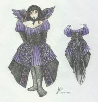 Happy Gothic Raven Dress by ShiningamiMaxwell