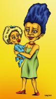 Marge and Maggie Simpson by KDLIG