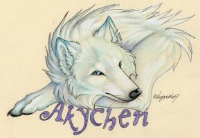 Commission-Akychen badge 1 by Lyanti