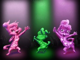 Chipettes at Staples Center by ElFunnimal
