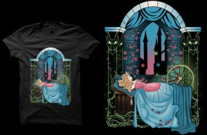 The Sleeping Rose T-shirt by Anlarel