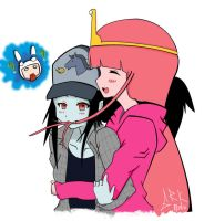 Bubblegum x Marceline II by ghostrockk