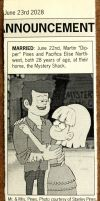 Dipper and Pacifica Wedding Announcement by aksarah