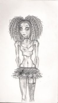 zombi girl by bloodiewhispers