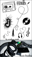 music brushes by rainbows-stock
