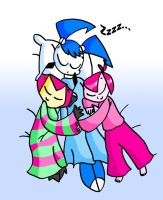 MLAATR trio sleeping by teenagerobotfan777