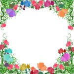 Colorful vine frame by ozaidesigns