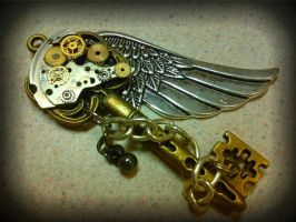 Mechanized Angel Fantasy Key by ArtByStarlaMoore