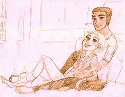 relaxing with you is my favorite thing to do by maybelletea