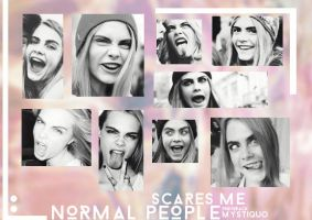 Normal people scare me (Cara Delevingne photopack) by Mystiquo