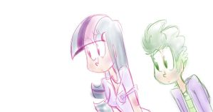 twilight and spike are staring at you by mariatamayothewierdo