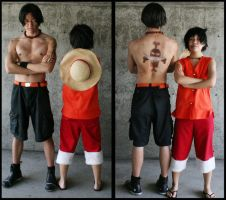 OP: Ace and Luffy by ihitoq