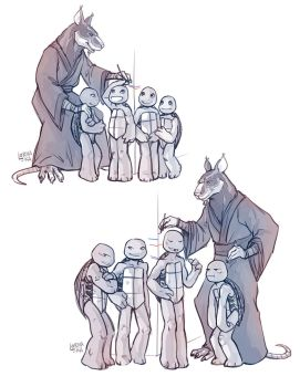 Family things - TMNT commission by lorna-ka
