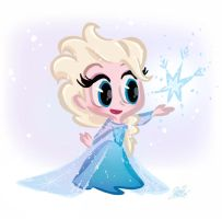 Cutie Elsa from Disney's Frozen by princekido
