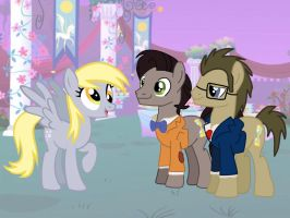 Derpy meet the 10th and 11th doctor at gale. by Ripped-ntripps