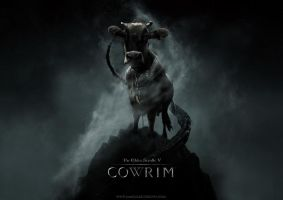 skyrim with added cow factor by squiffythewombat