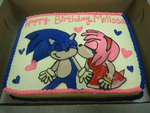 SonAmy Birthday Cake (2010) by AaliyahSerena