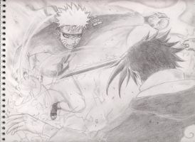 Naruto vs Sasuke by forsakenlight77