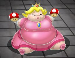 Fat Princess Peach by TubbyToon