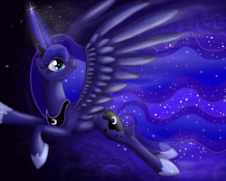 MLP Princess Luna by Elana-Louise