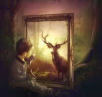 Benjamin et le cerf by Laura-Graph