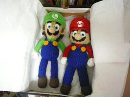 Mario and Luigi together. by SteenMB