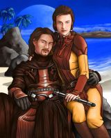 Revan and Bastila by Rinter