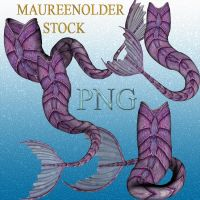 STOCK PNG purple mer-tails by MaureenOlder