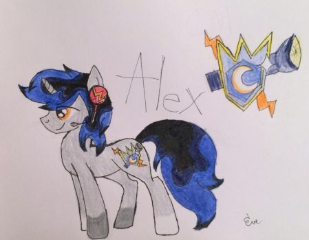 My ponysona alex by awesomedragster
