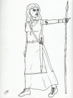 Queen Boudica inked by Zandoz