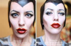 Angelina Jolie's Maleficent Make-up test by Shirak-cosplay