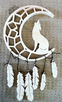 Coyote's Crescent Moon Dreamcatcher by WereCraft