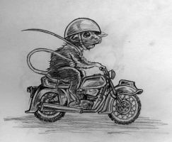 Motorcycle Mouse by saba-do