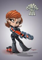 Female Shepard Chibi :: Mass Effect 3 by Red-J