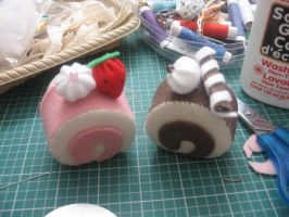 Hand-sewn Roll Cakes by anonymous-dreams