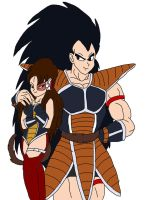 Lia and Raditz by AnaPaulaDBZ