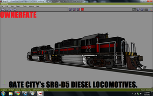 2 of Gate city's SRG-D5 Diesel locomotives by ownerfate