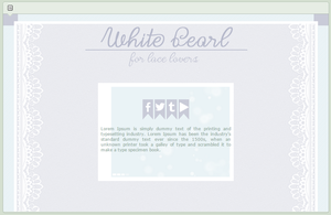 White Pearl | simple custom graphic by BluAjisai