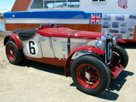 MG K Type WON '33 Mille Miglia by Partywave