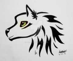 Green Eyed Wolf Design by XcubX