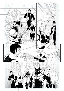 Guardians of the galaxy - test page 04 by MariodelPennino